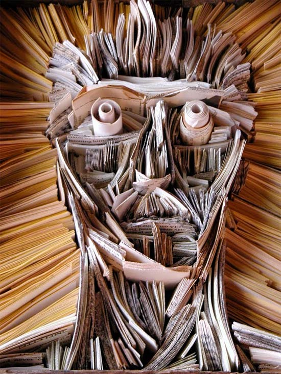 Newspaper Sculptures and Installations by NYC's Nick Georgiou: newspaper_sculptures_10_20110613_1073947479.jpg