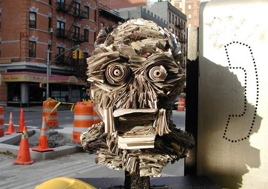 Newspaper Sculptures and Installations by NYC's Nick Georgiou: newspaper_sculptures_1_20110613_1963718587.jpg
