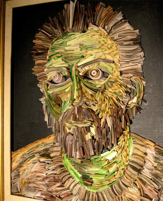 Newspaper Sculptures and Installations by NYC's Nick Georgiou: newspaper_sculptures_5_20110613_1364260093.jpg