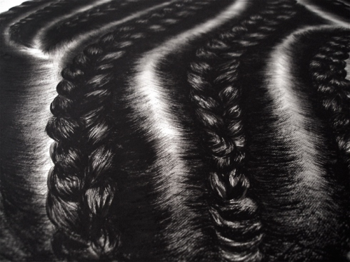 Hair and Braid Paintings by So Yoon Lym: corn_row_paintings_6_20111027_1489536235.jpg