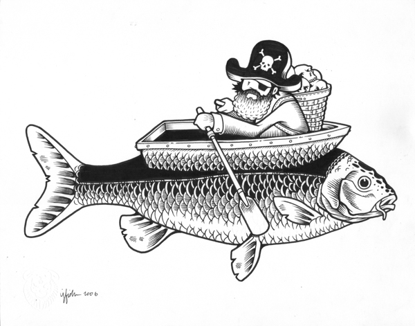 "Juxtapoz x Adobe: Jeremy Fish's Yesterdays and Tomorrows ""Drawings"": 2006 LONELY FISHERMAN.jpg"