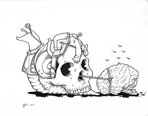 "Juxtapoz x Adobe: Jeremy Fish's Yesterdays and Tomorrows ""Drawings"": 2007 SNAILS PACE.jpg"