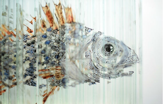 Rotating Glass Sculpture By Thomas Medicus