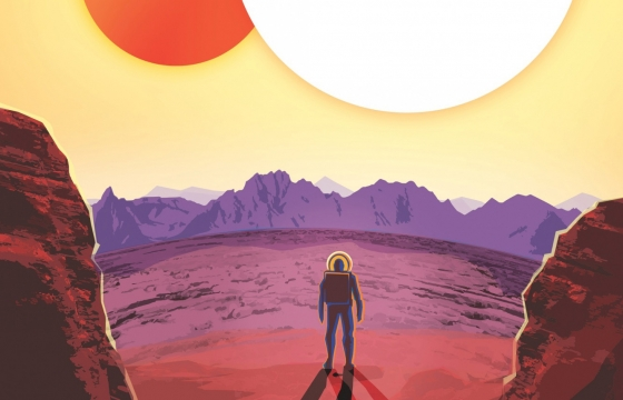 "Nasa's ""vintage"" travel posters for newly discovered planets"