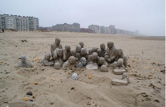 """The Corporation"" by Isaac Cordal"