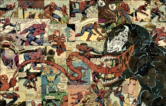 Mike Alcantara's Comic Book Collages