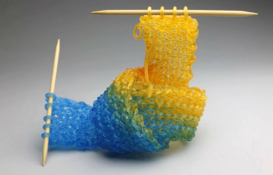 Carol Milne Knits with Glass