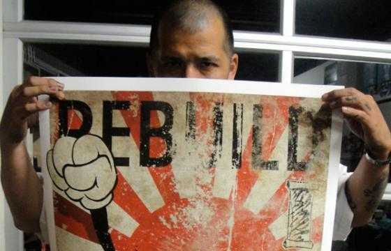 "Slick does ""Rebuild Japan"" Print and Tee"