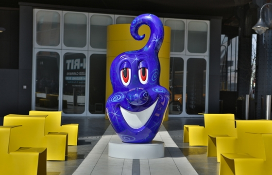 "Kenny Scharf's ""Squirtz"" at The Standard in New York"