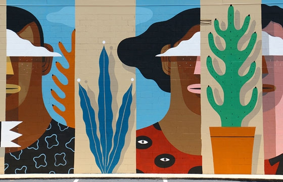 Italian Artist Agostino Iacurci Collaborates with Children for Atlanta Mural