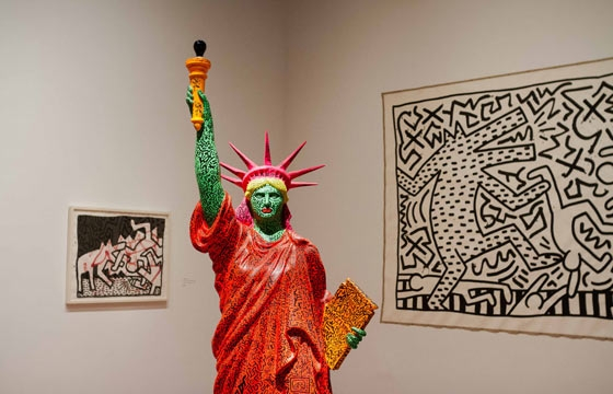 "Closing: Keith Haring ""The Political Line"" @ de Young Museum"