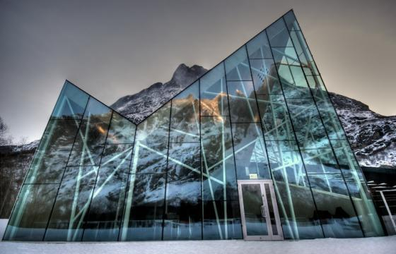 Troll Wall Visitor Center in Trollveggen, Norway