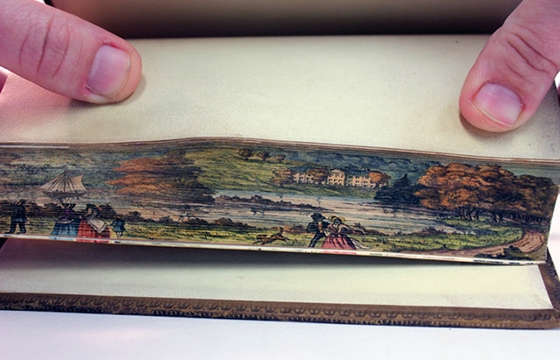 Fore-Edge Painting, Scenes Painted on the Edges of Book Pages