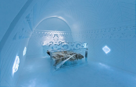 Spend the Night in Sweden's Ice Hotel