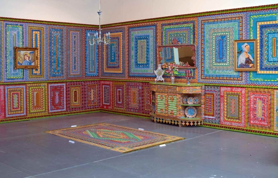 Installations Constructed From Discarded Lottery Tickets