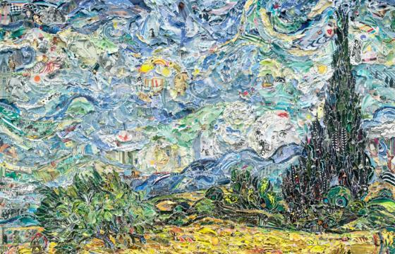 Famous Paintings Recreated from Torn Magazines by Vik Muniz