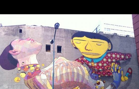 Os Gemeos x ARYZ: Completed Mural in Poland