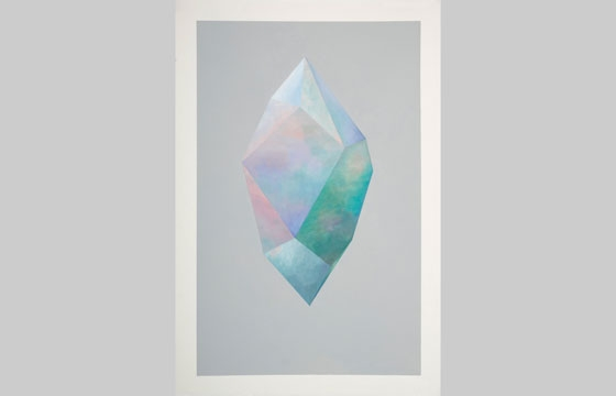 Rebecca Chaperon's Ethereal Crystal Paintings